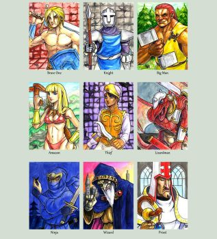 Sketchcard MagicSword Collection by fedde