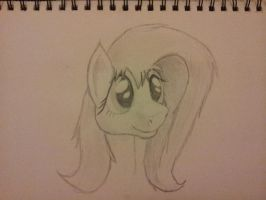 Styalised Fluttershy by Tshirting