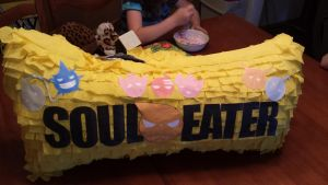 soul eater pinata (hand made) by picklesjd