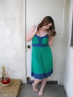 green blue dress 7 by PhoeebStock