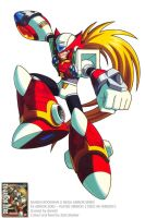 MEGAMAN X EX ARMOR ZERO OFFICIAL ARTWORK by donaldrockman