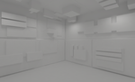 White cube room 1 by Tebh-stock