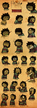 Frisk's Essential Expressions by TheComicGuys
