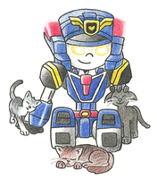 Deckerd and Kittens by AutobotSparkyPrime