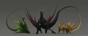 Game of thrones Dragons by pain16