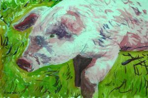 Lorenzo, the big pig from the Valley by MauricioKanno