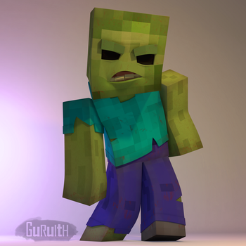 Scary Zombie (Minecraft) by Guruith