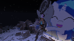 Vinyl and Octavia Pixel Art in Mine Craft by jwhitloctombraider