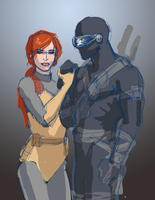 Scarlett and Snake-Eyes by Emmanation