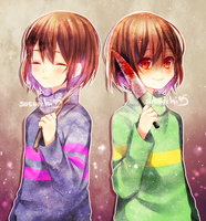 Frisk and Chara by sasucchi95