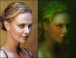 Fantasy Charlize Theron (before-after) by Vayne17
