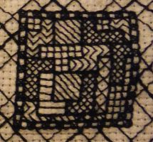 Tiny Tetris Fill Stitch Experiment by Amazinadrielle