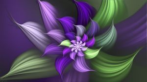 Squeaky Purple Flower by Frankief