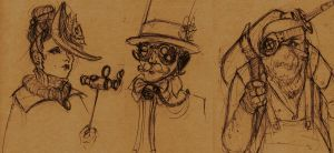 9.15 Sketch Dump: Steampunk by Jack-Kaiser