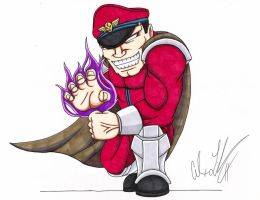 Street Fighter's M Bison by toonartist