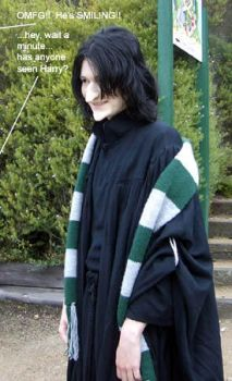 Scary Snape by brewing-trouble