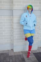 Rainbow Dash Hoodie Cosplay Costume by Monostache