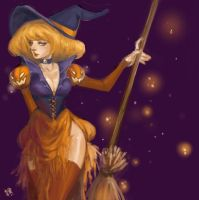 pumpkin witch by kiikii-sempai