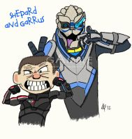 Shepard and Garrus by agamble07
