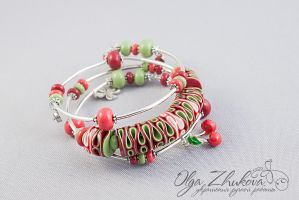 Bracelet made of polymer clay by polyflowers