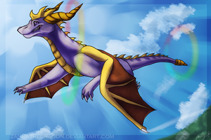 Spyro the Dragon by Zannathedragon