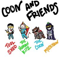 Coon and 'friends' by bleucanary