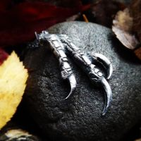 Nevermore - Crow - 3 Talon Pendant by QuintessentialArts