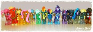 Funko Glitter Crystal Ponies! by AquaticNeon