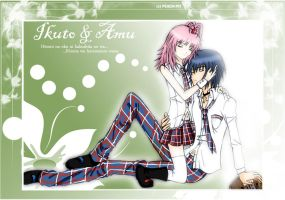 Ikuto and Amu - DEAREST by PetitAnge
