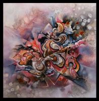 ribbons abstract painting by Amytea