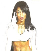 Aaliyah Colors: W.I.P. by CdubbArt