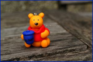 Polymer Clay - Winnie the Pooh! by Jane-Rt