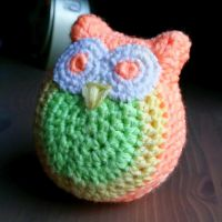 Pastel crochet owl by KnitLizzy