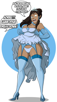 Commission: Korra  Celebrating the New Year by grimphantom