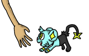 Shinx And Hand by BastienLink
