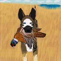 Raven Hunting A Game Bird :3 (Complete!) by NightAngelKennels