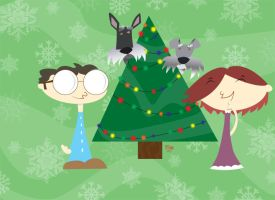 Our Lil Christmas Card 07 by MrOneEars