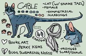 CABLE official reference sheet by JocastaTheWeird