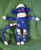 let it snow, sock monkey by Mab-overthrown