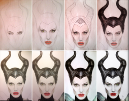 WIP Maleficent by tanjadrawing