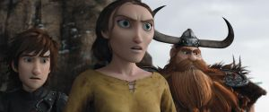 Angry Valka, sad Hiccup, confused Stoick by Grzeboable