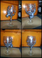 octopus wine glass by montana pessin by montanapessin