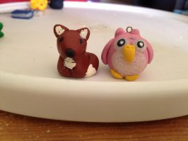 Owl and Fox by anthill816