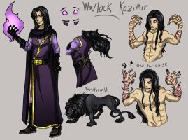 The Warlock Kazimir by Kabudragon