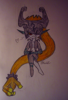 My attempt at drawing Midna by Starry-Bat1