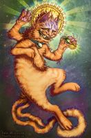 Cosmic Cat by JulieBeloussow