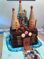 Castle Cake by Band-Geek24