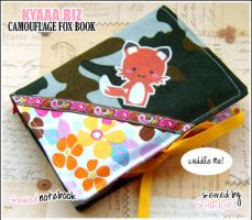 Cozy Book - Camouflage Fox by shiricki
