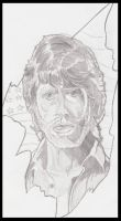 Chuck Norris sketch by Squamate