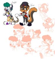 Meet Sinclair and Jessie by Fyuvix